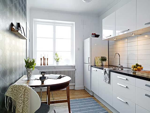Дизайн кухни прямоугольной 9 кв.м фото