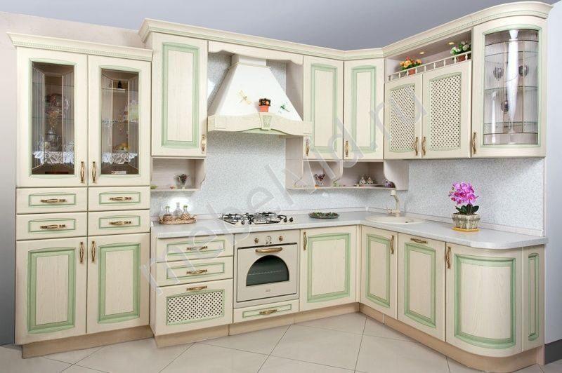 Кухня искья зеленая столешница раковина столешница угловая для ванной