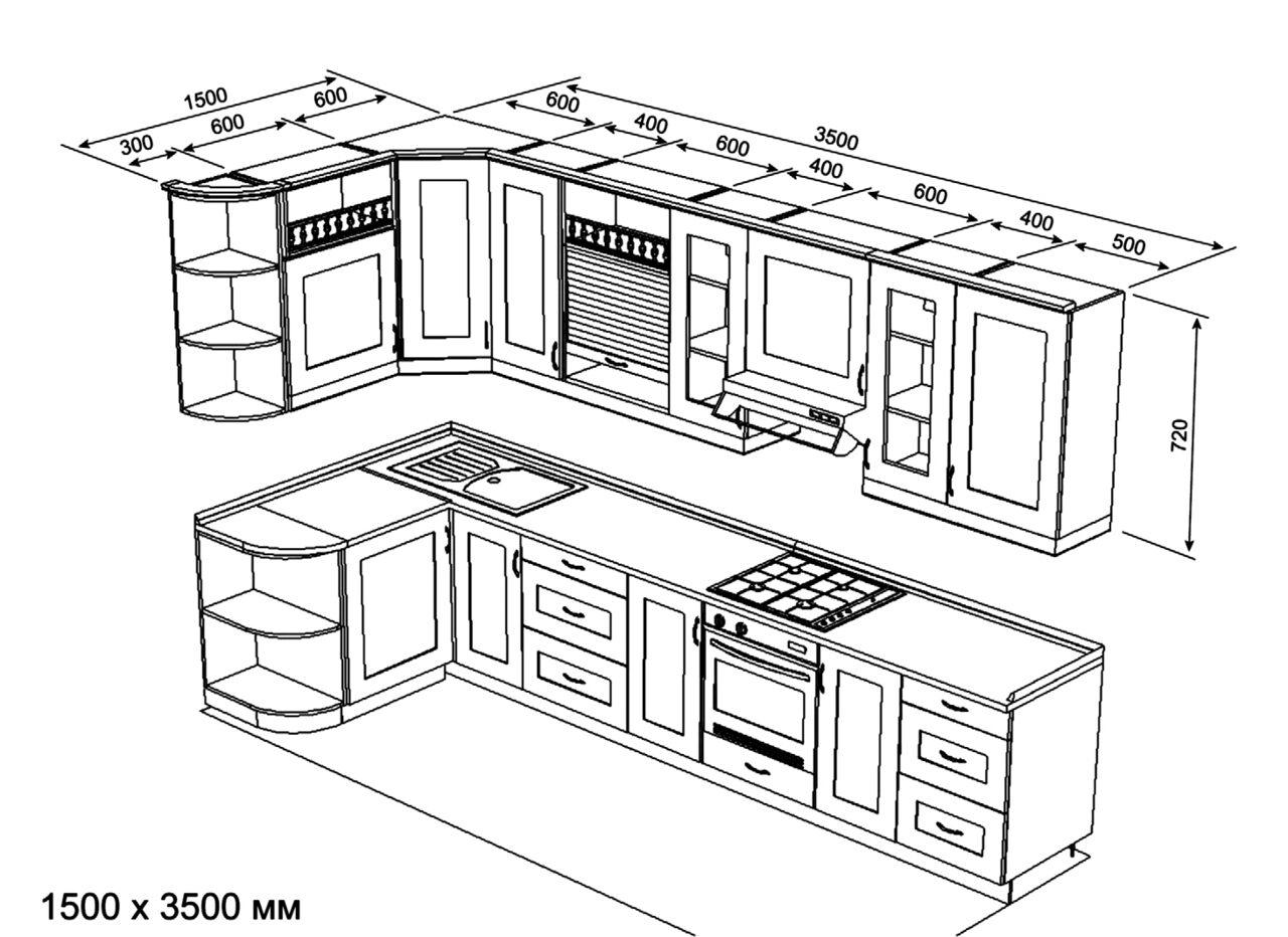 Типовой проект кухни