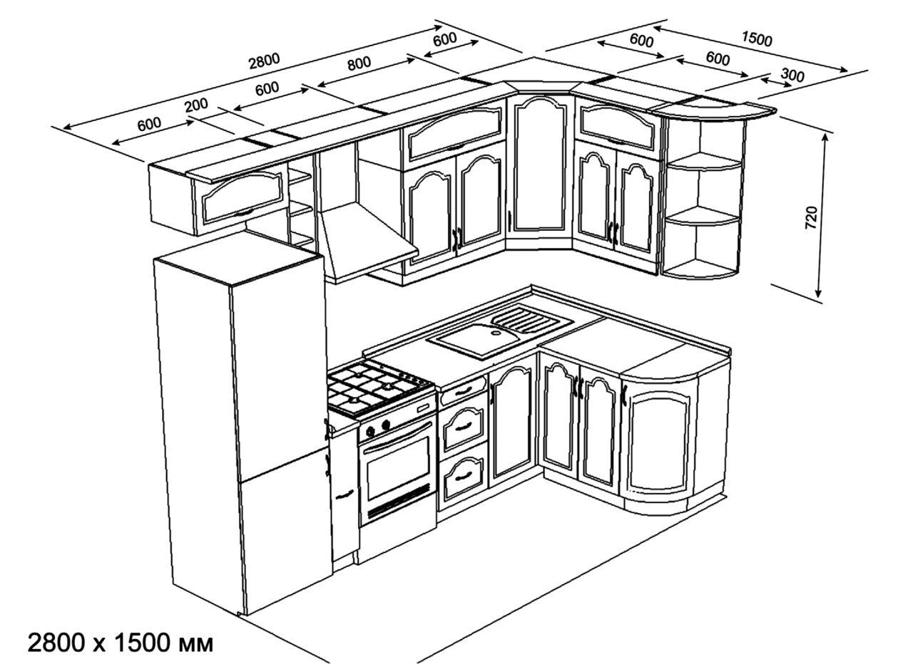 Кухонный гарнитур/мебель своими руками: шкафы, схемы 25