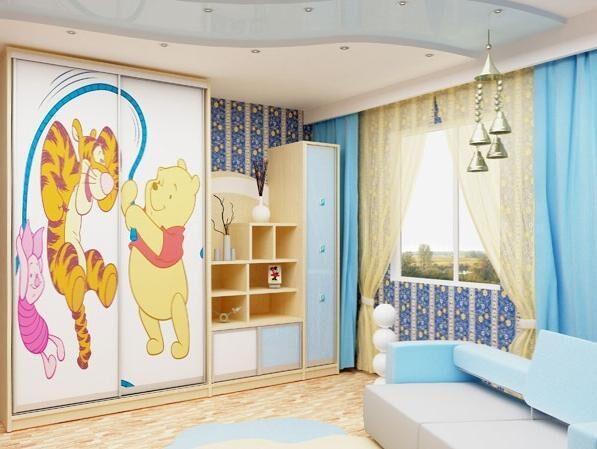 Шкаф-купе в детскую дизайн