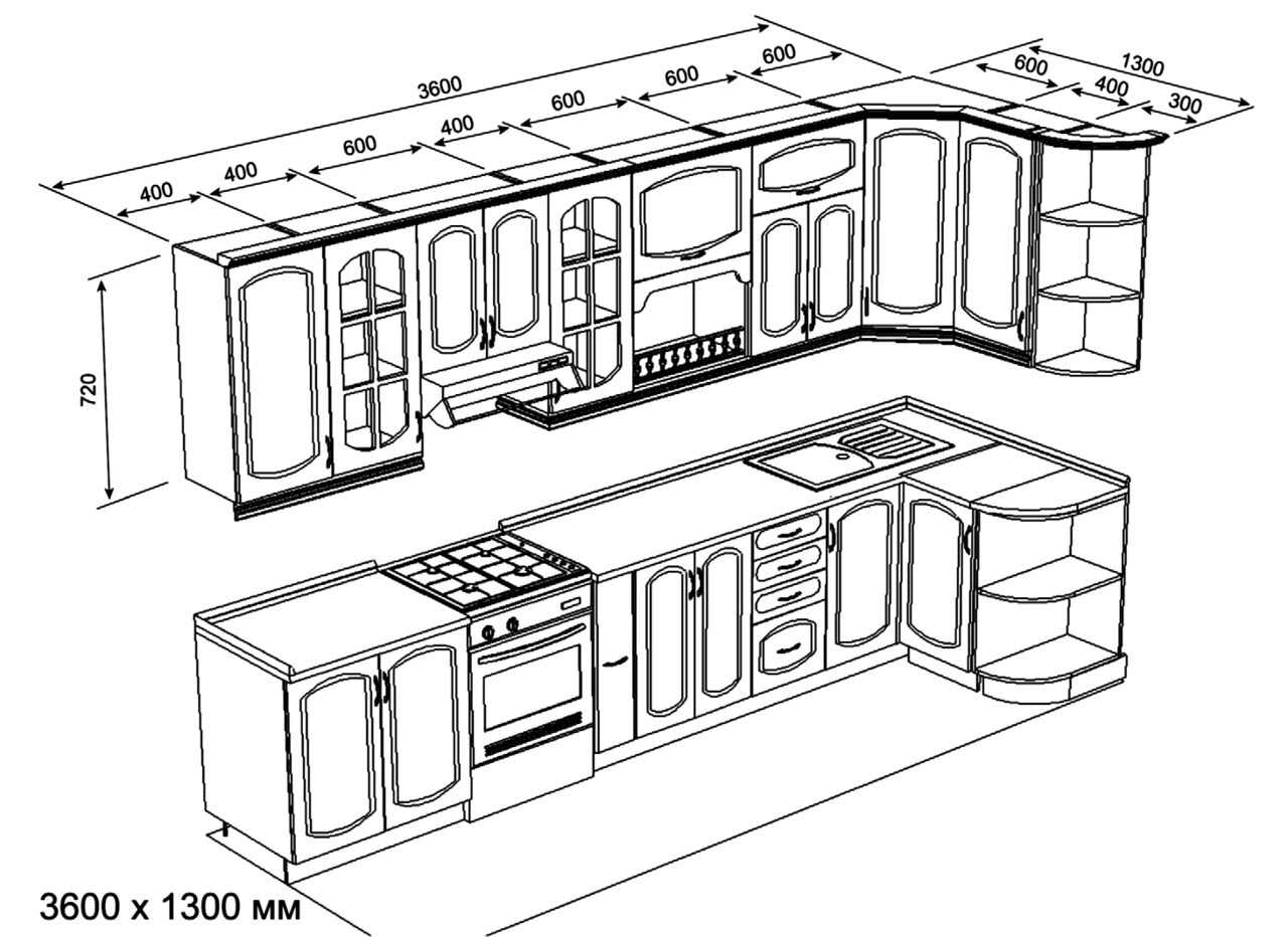 Схема кухонный гарнитур своими руками фото