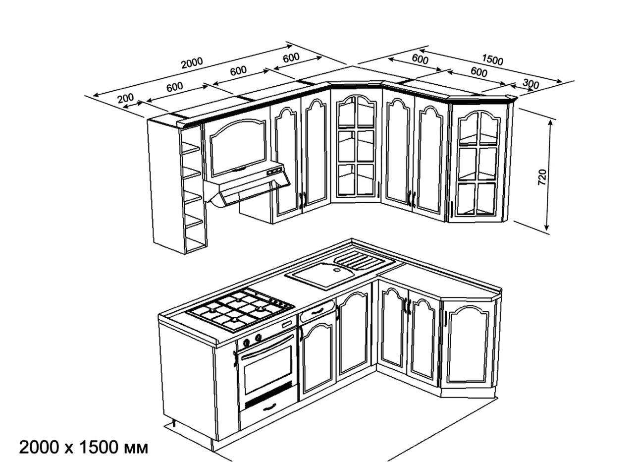 мебель горки с размерами