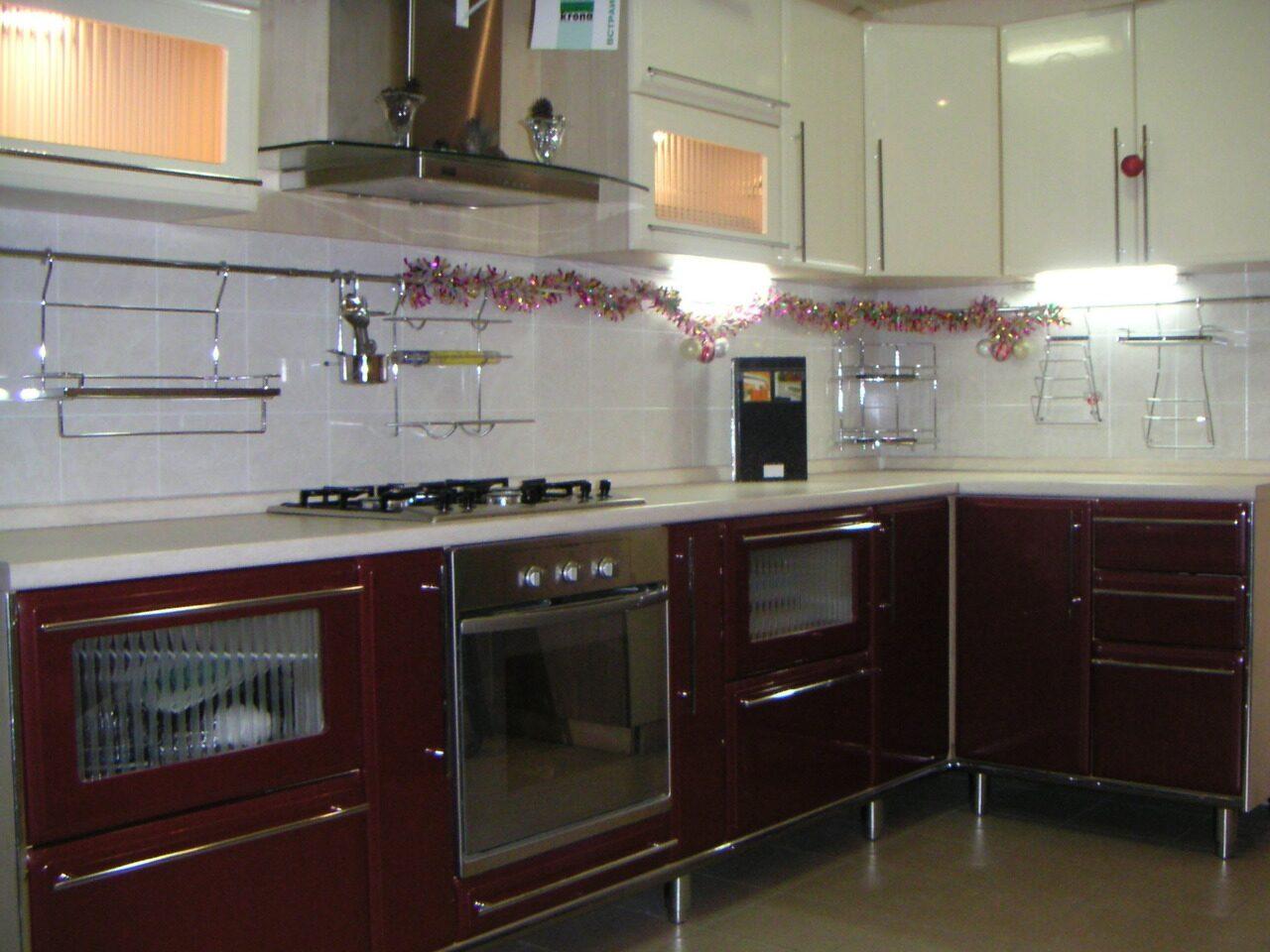 Вишневая кухня фото 3