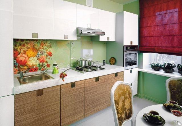 Дизайн кухни с пластиковым фартуком