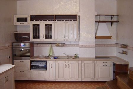 Кухня из массива ясеня Видная Мебель2